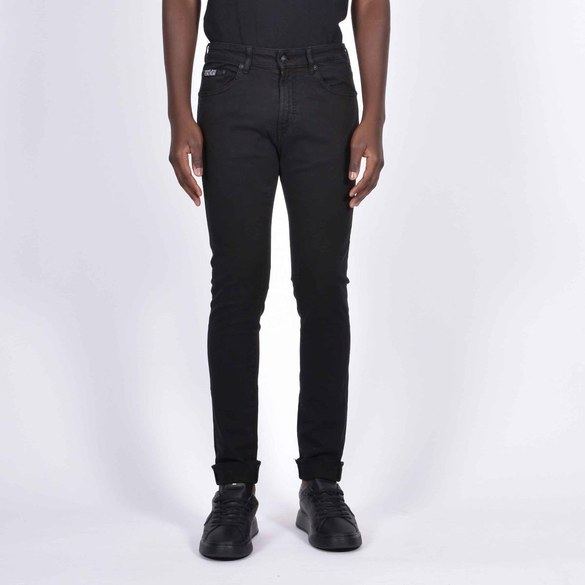 Jeans etichetta logo- Nero