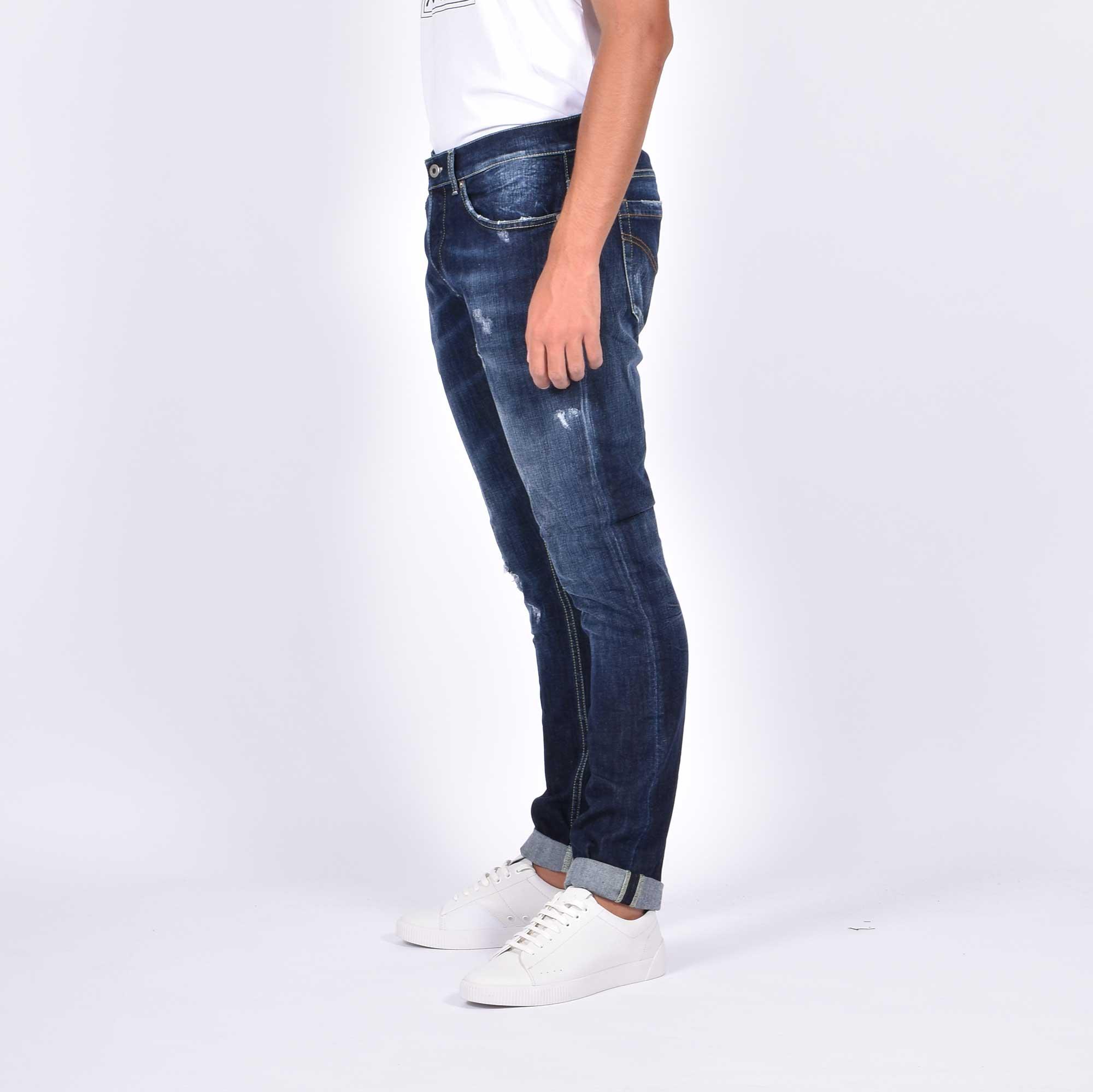 Jeans george strappo ginocchi - Denim scuro
