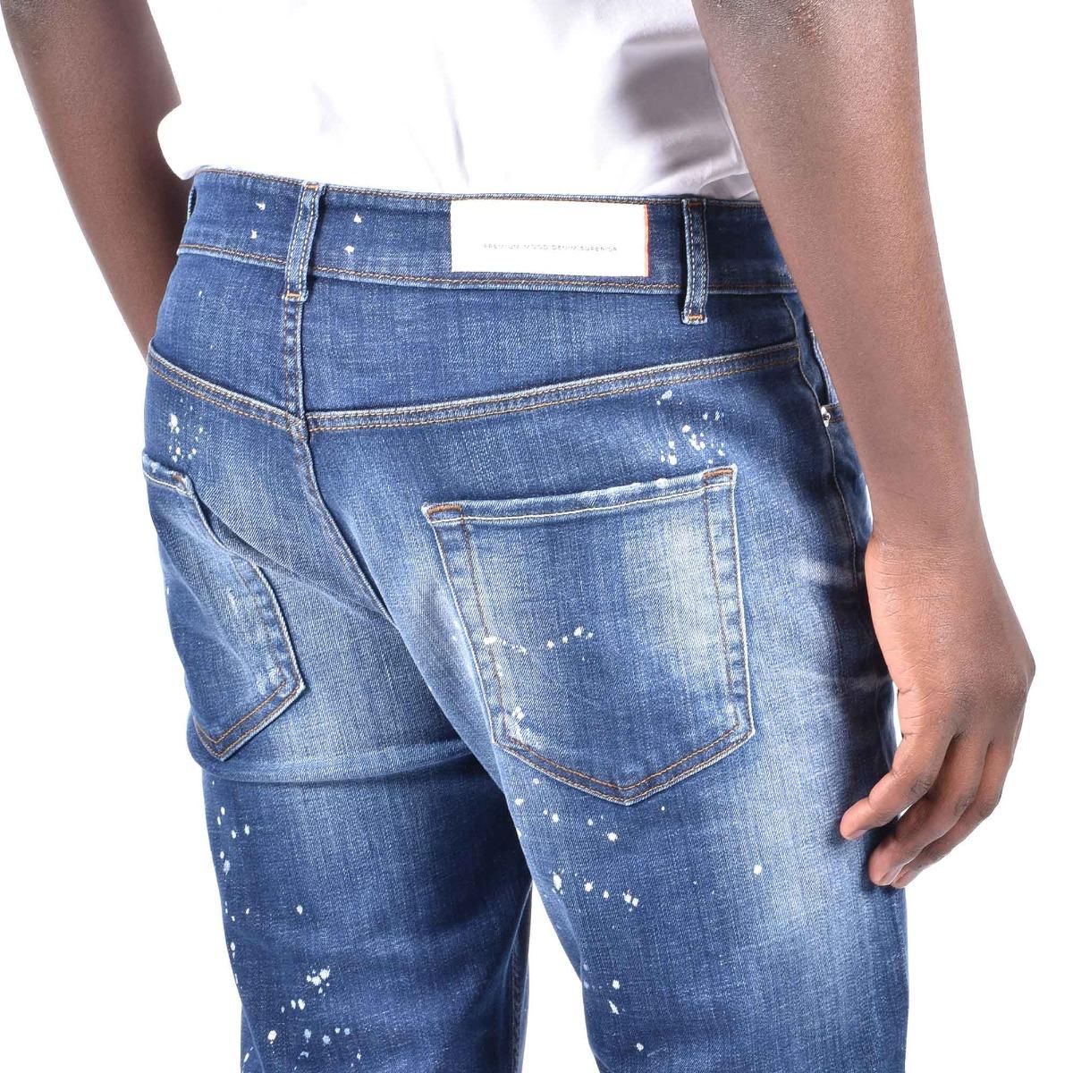 Jeans gerard  schizzi- Denim scuro