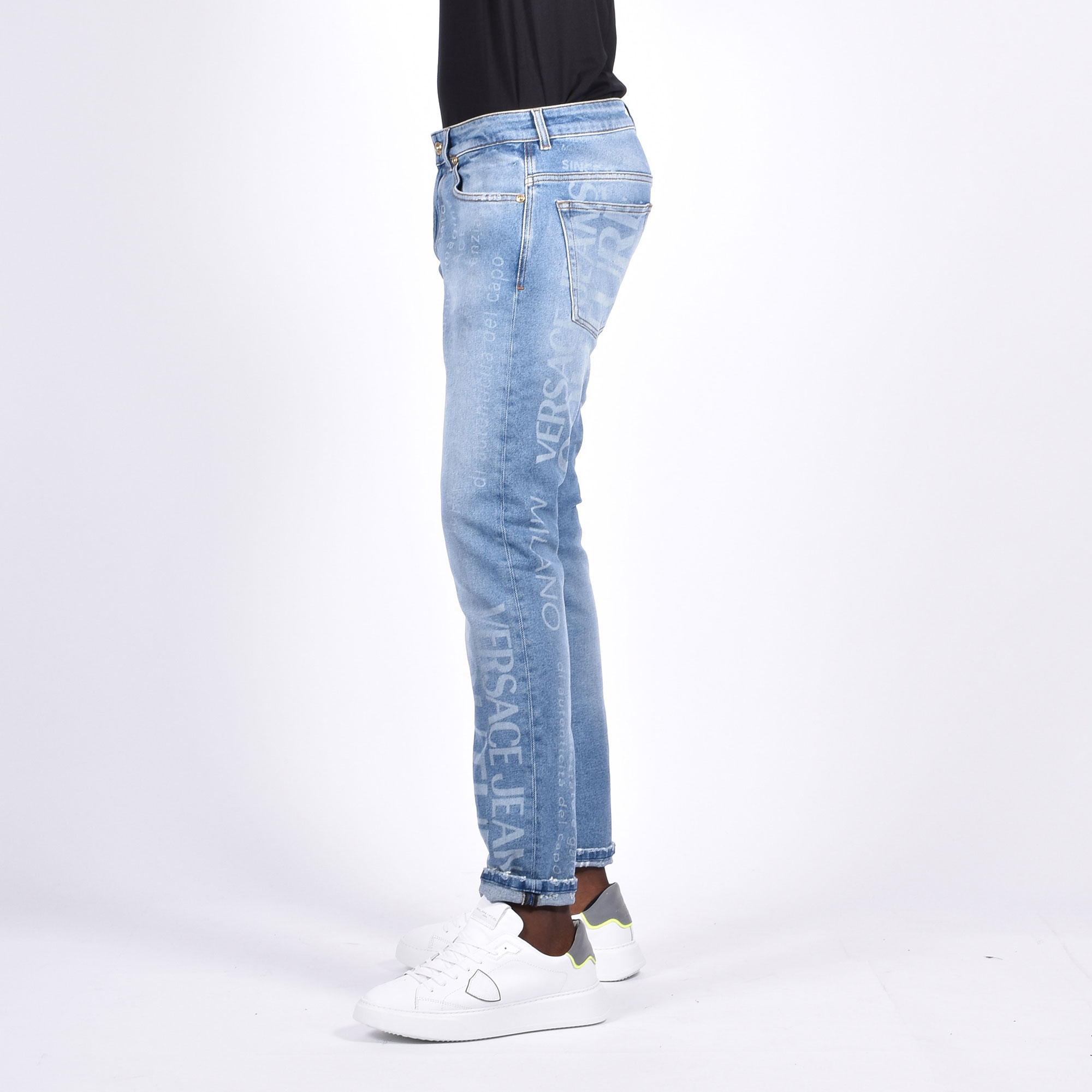 Jeans all over logo - Denim chiaro