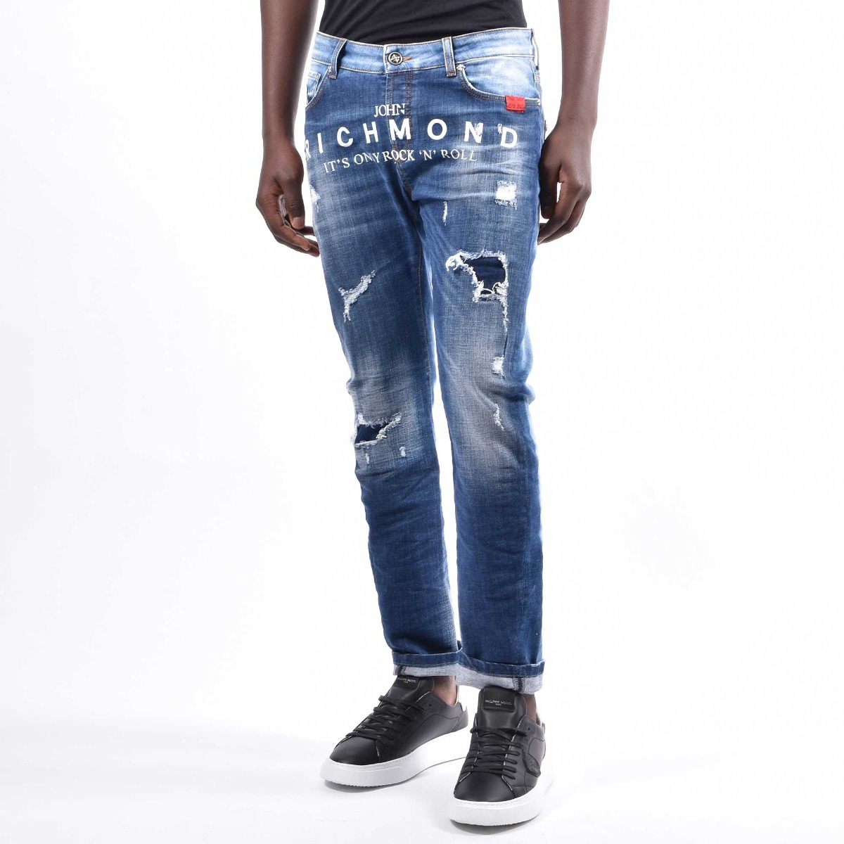 Jeans galat bicolor - Denim medio