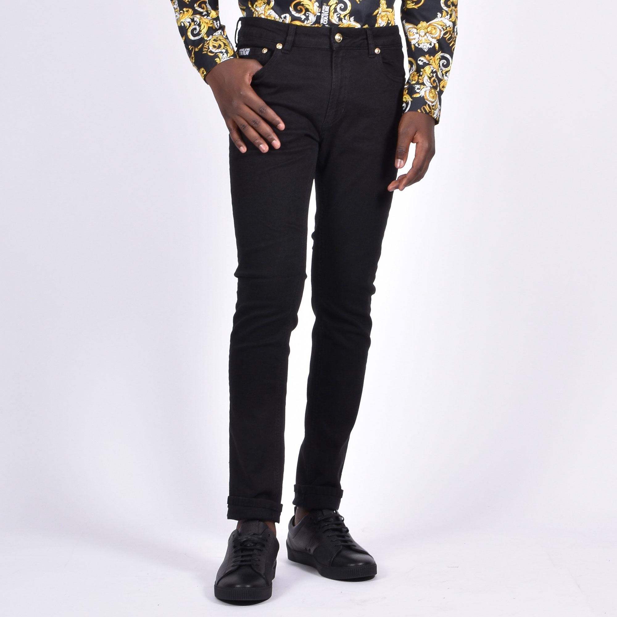 Jeans logo tasca - Nero