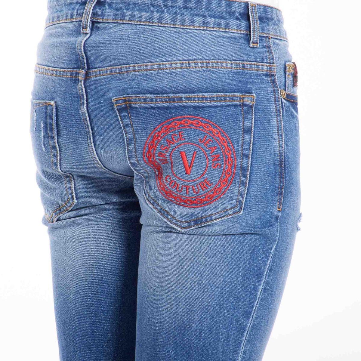 Jeans v emblem- Denim scuro