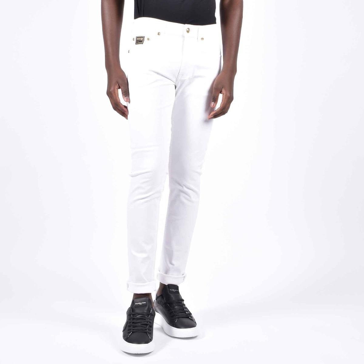 Pantalone logo tasca - Bianco