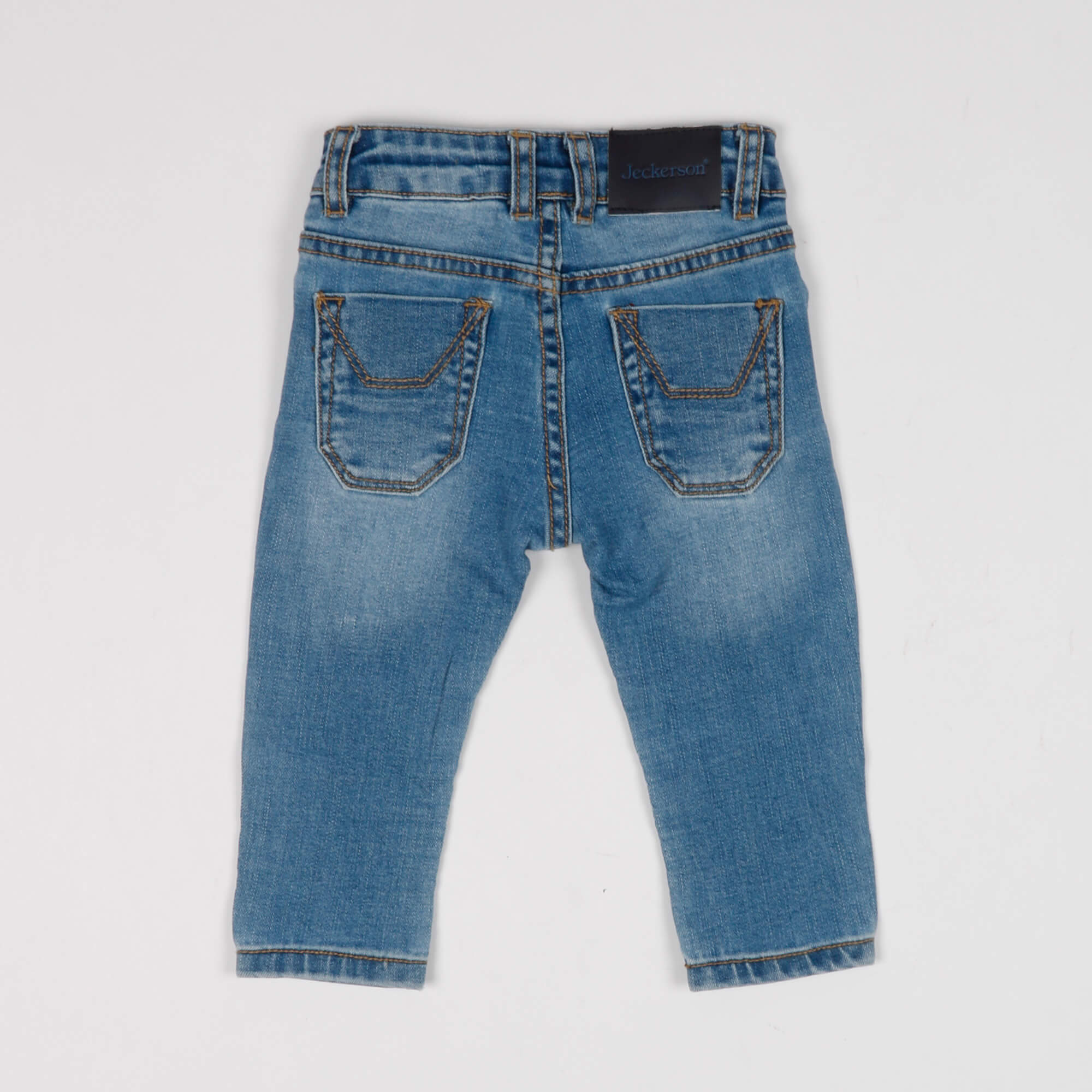 Jeans neonato con toppe - Denim