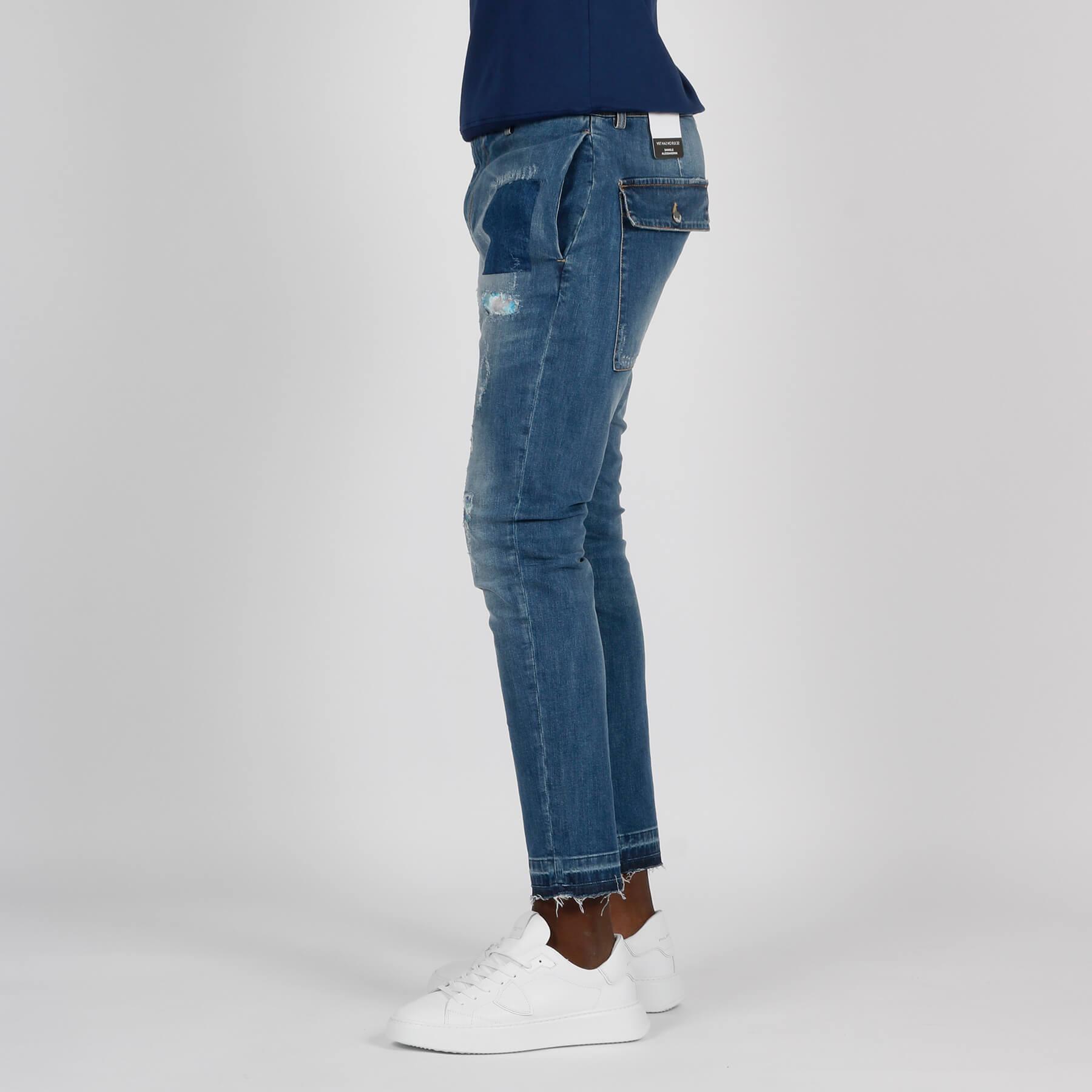 Jeans patch oliviero - Denim