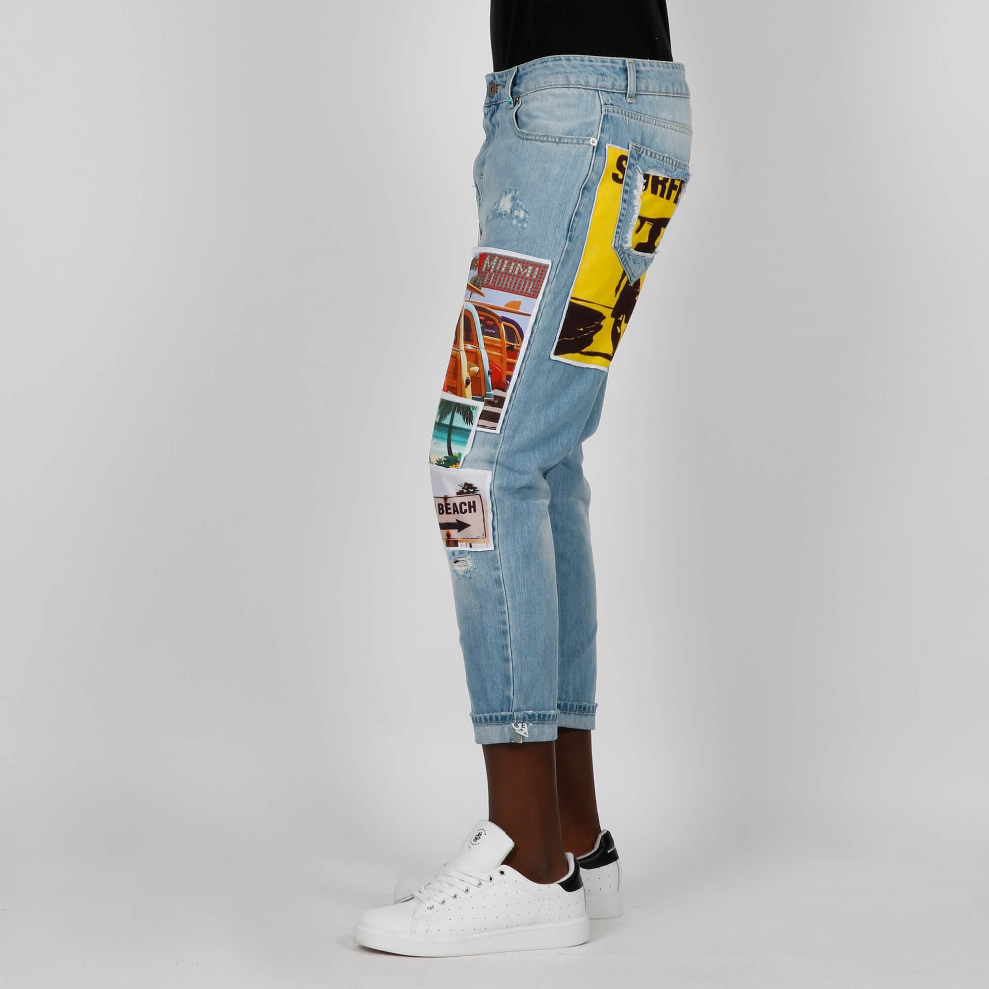 Jeans patch sea - Denim