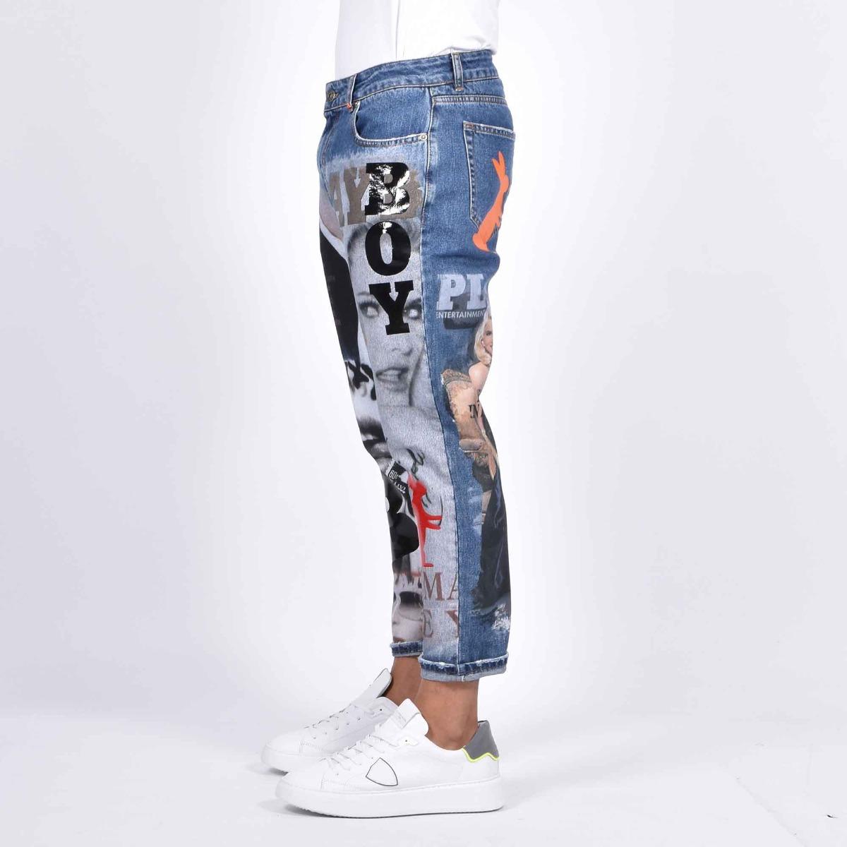 Jeans stampa playboy - Denim
