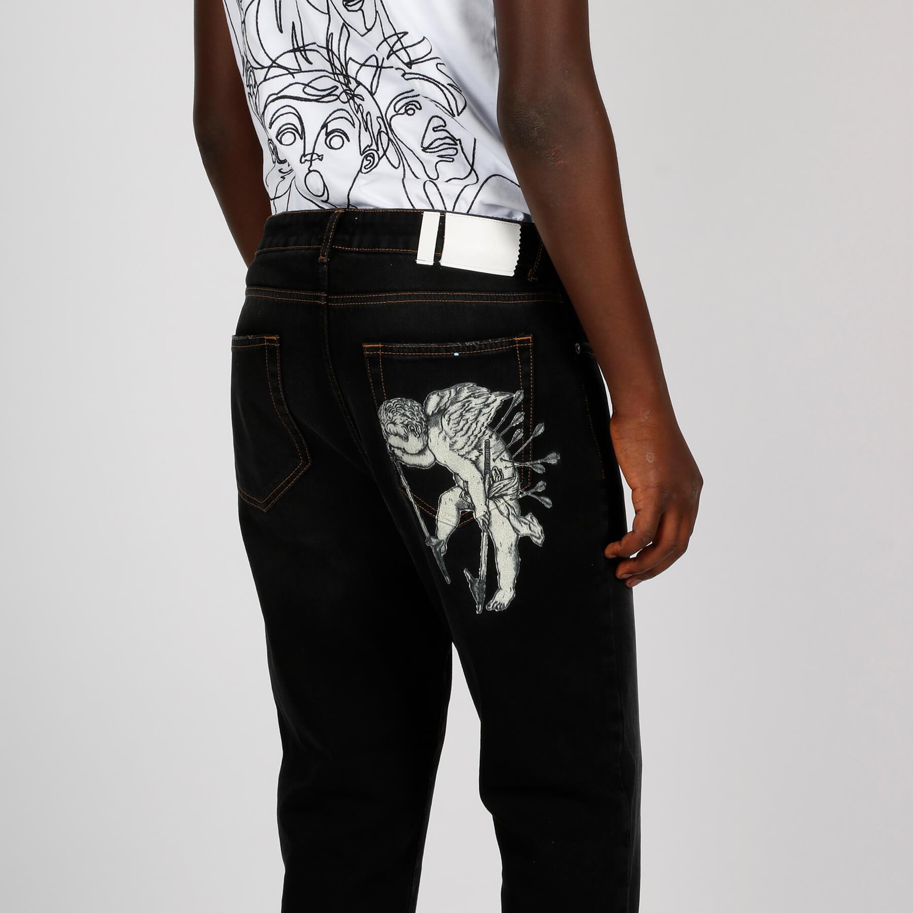 Jeans putto dipinto - Nero