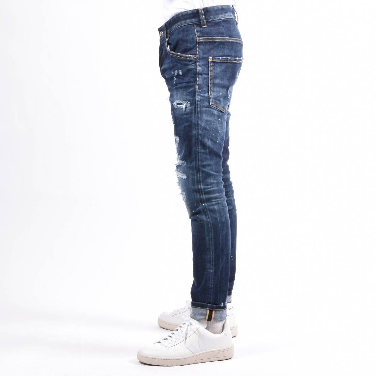Jeans skater- Denim medio