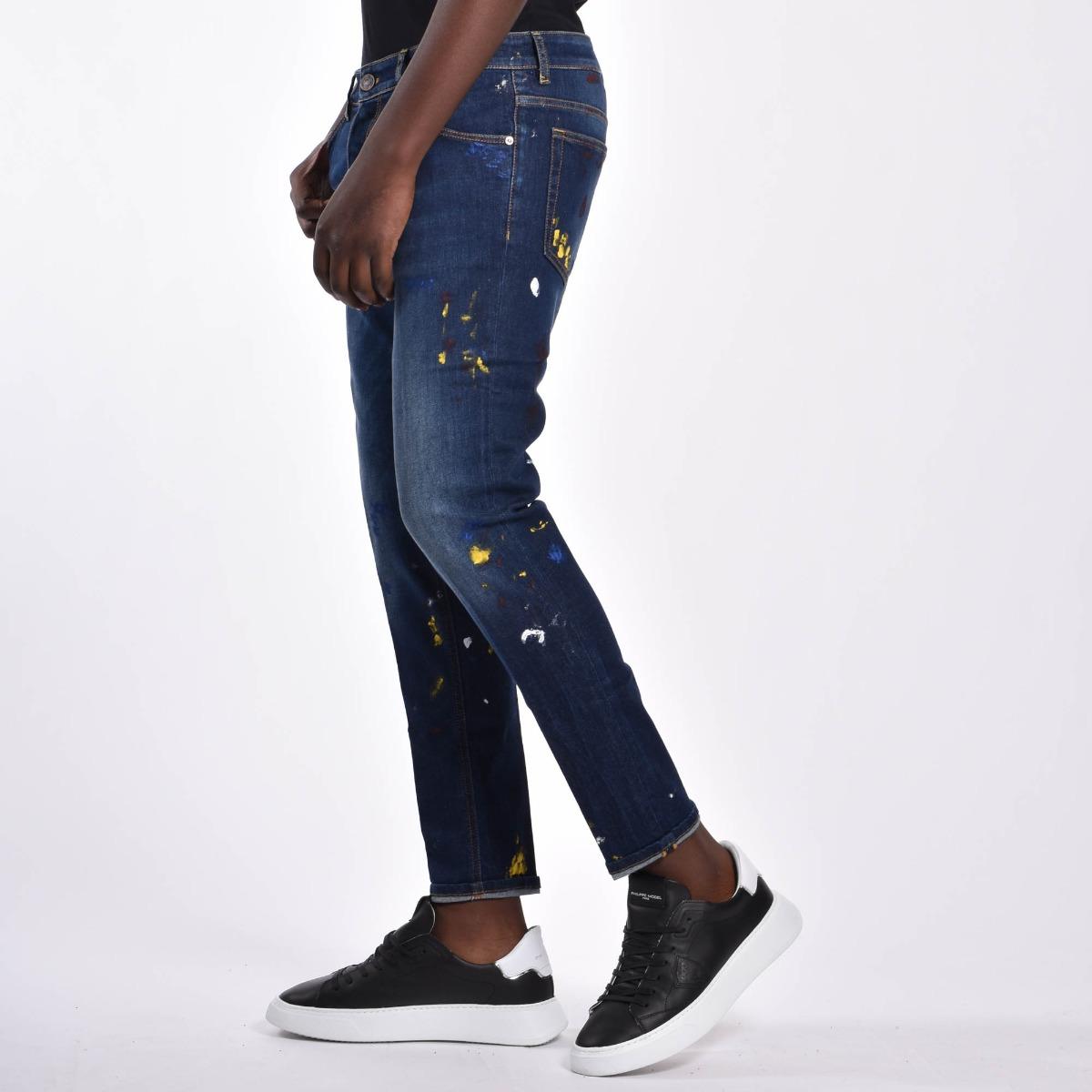 Jeans spruzzi macchie - Denim scuro