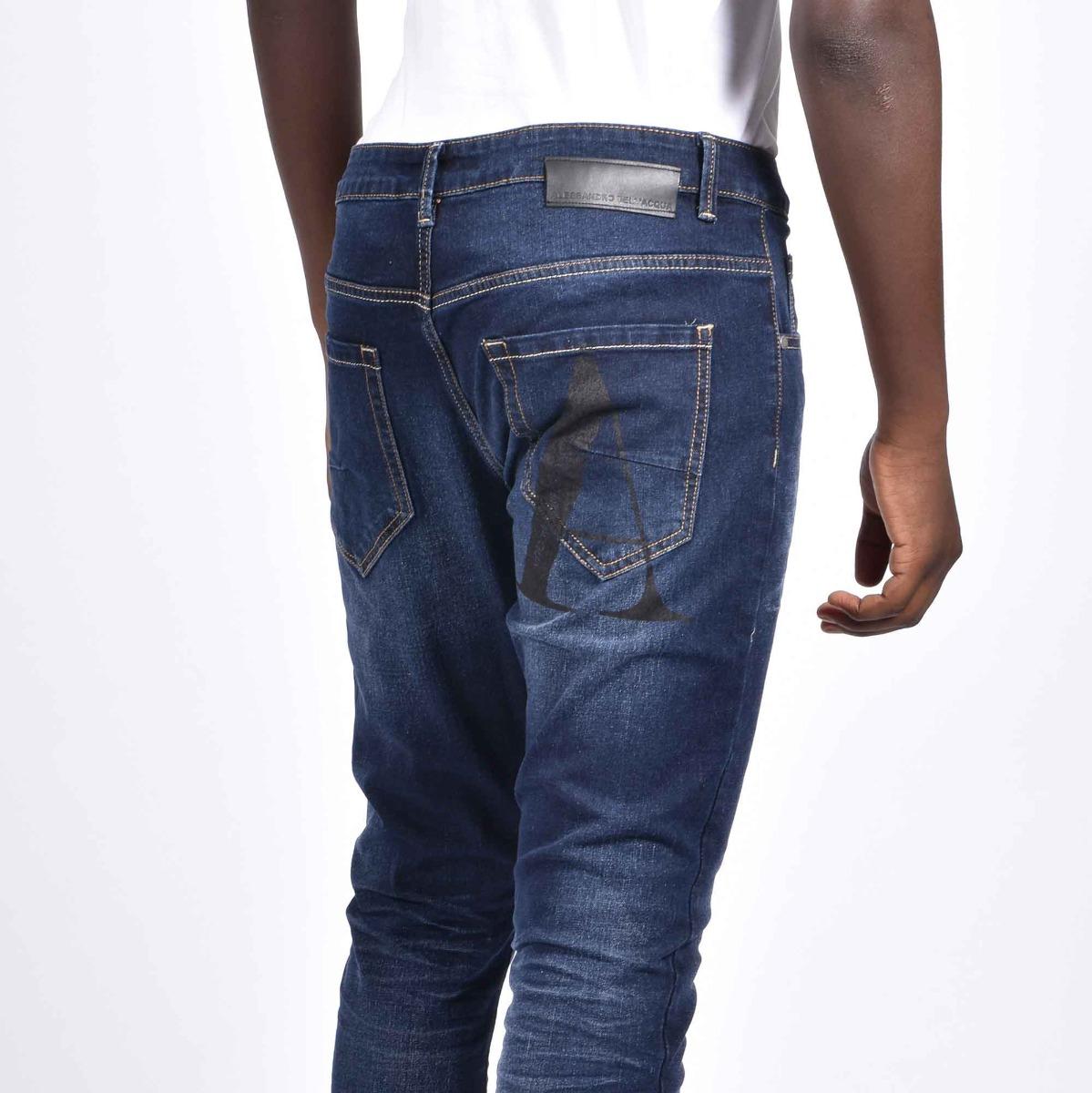Jeans con stampa A - Denim