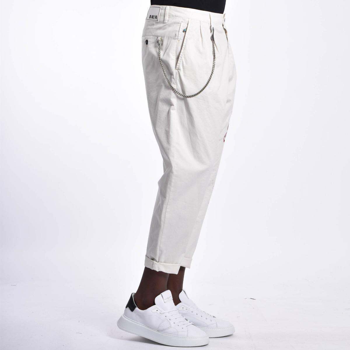 Pantalone farfalle - Bianco