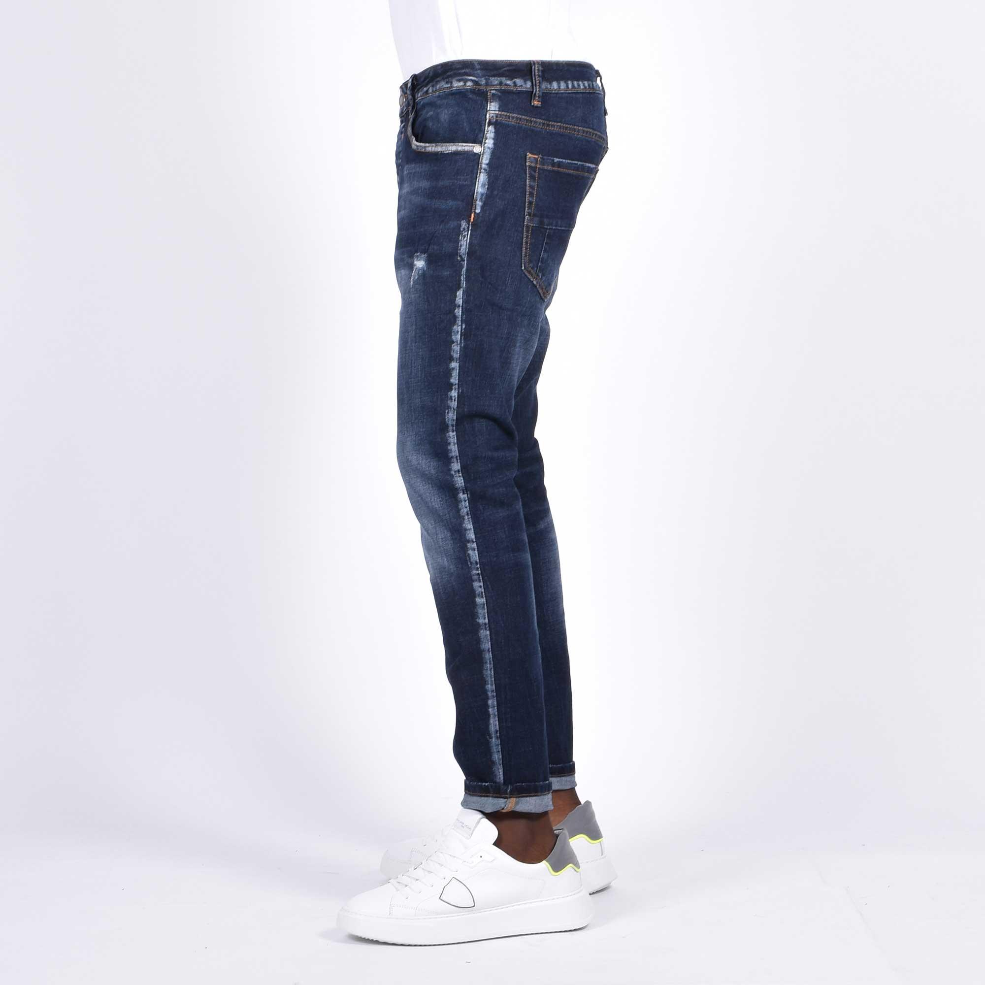Jeans strappi - Denim medio