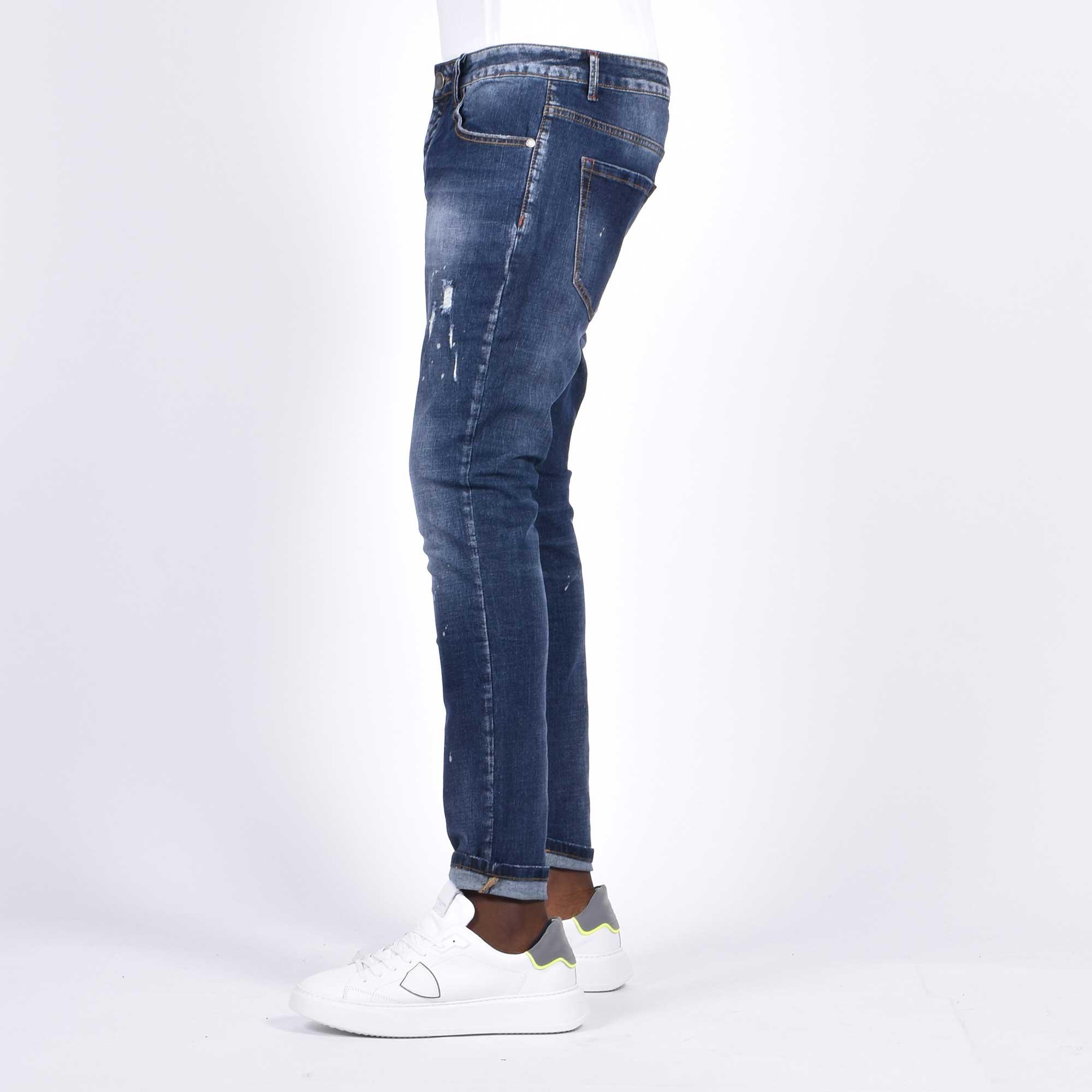 Jeans strappi e macchie - Denim