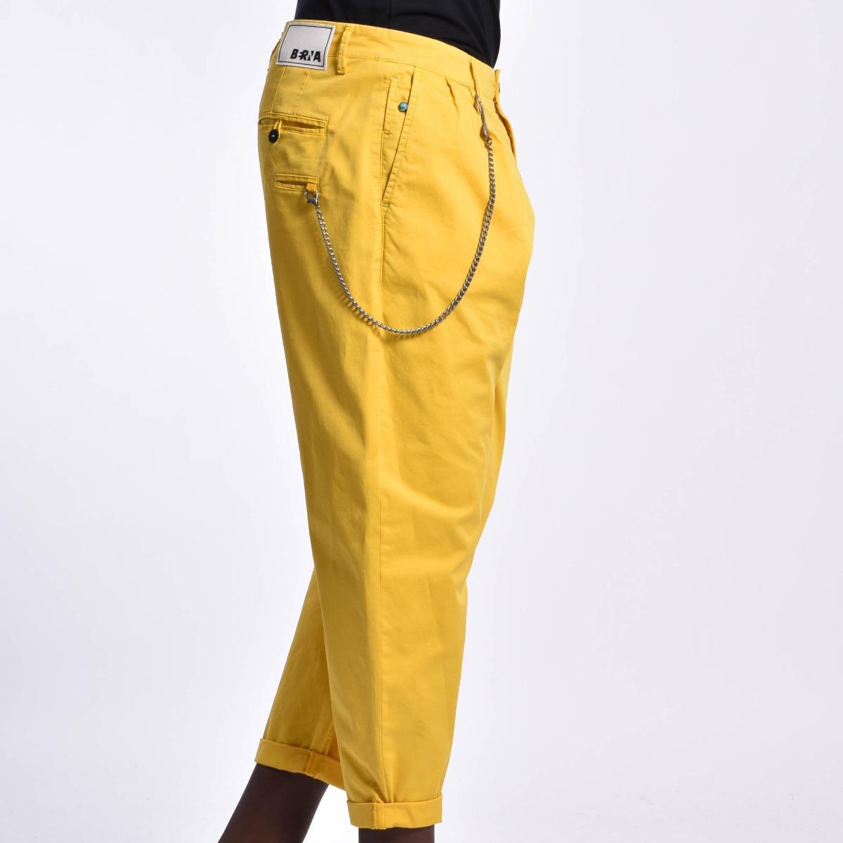 Pantalone tasca america catena - Giallo