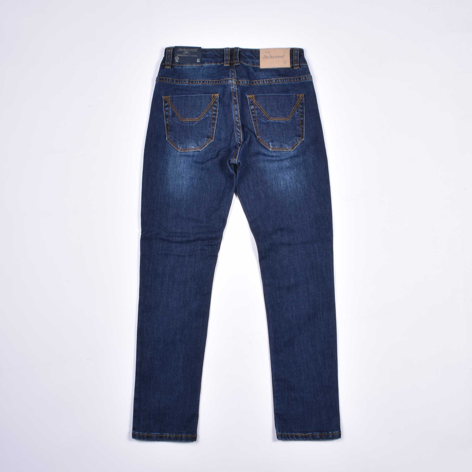 Jeans toppa alcantara bordeaux - Denim