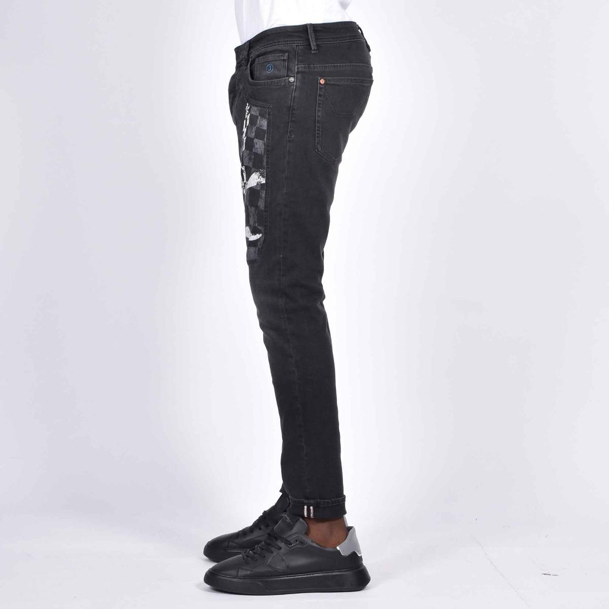 Jeans toppa aerei - Denim grigio