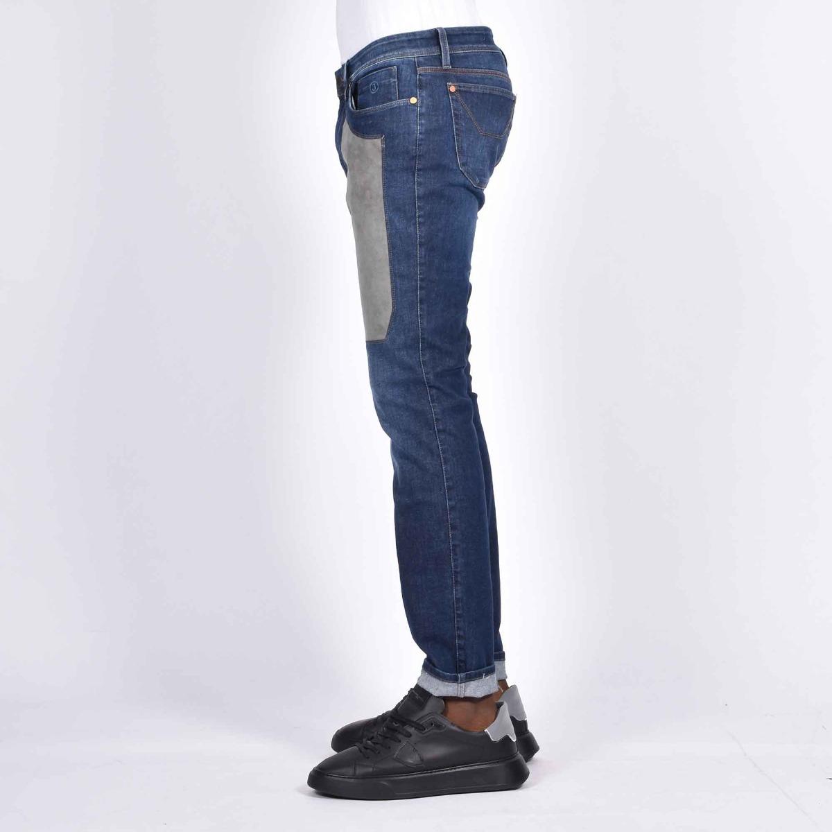 Jeans toppa alcantara grigio - Denim