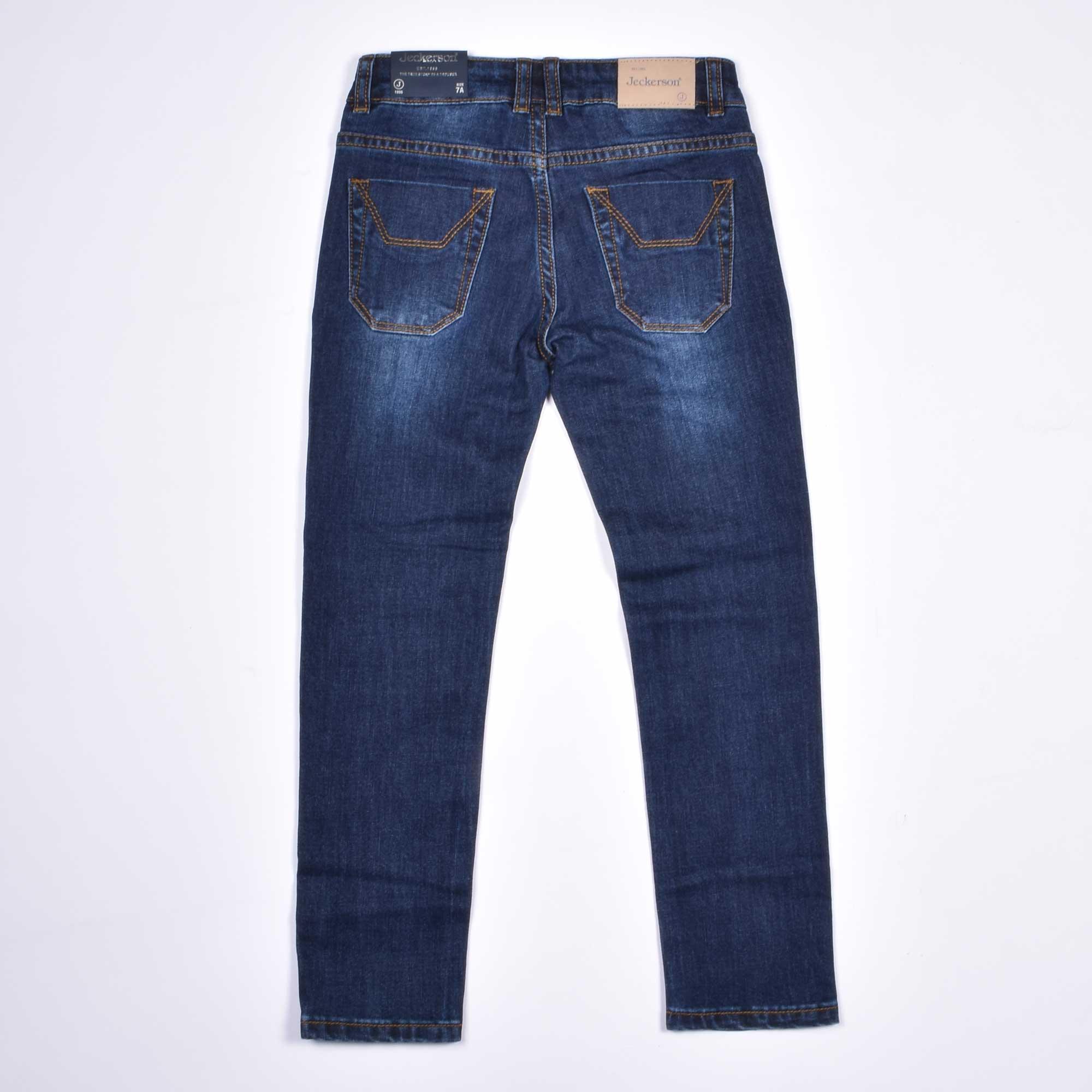 Jeans toppa velluto - Blu