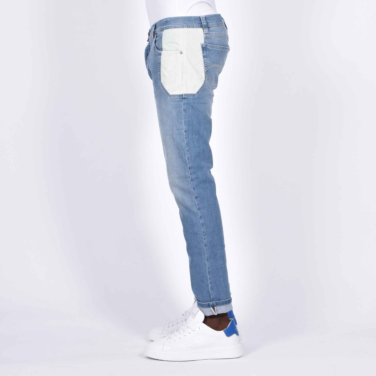 Jeans toppa bianco - Denim