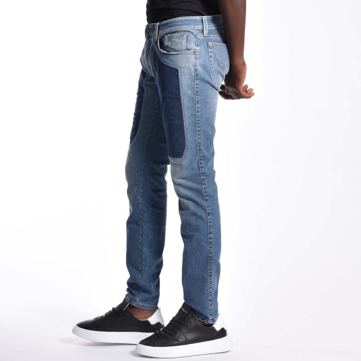 Jeans toppe alcantara blu - Denim