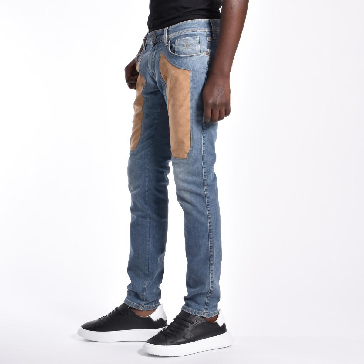 Jeans toppe alcantara beige - Denim