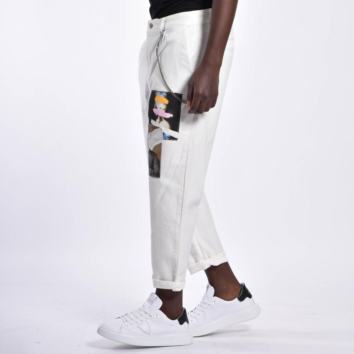 Jeans toppa arte - Bianco