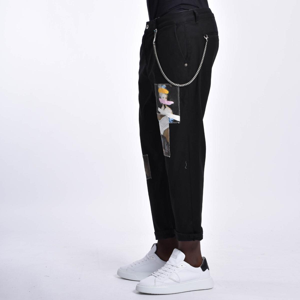 Jeans toppa arte - Nero