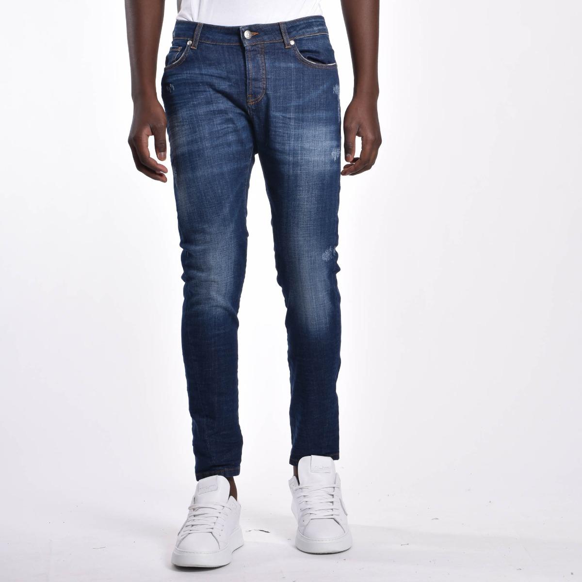 Jeans tought striscia logo - Denim scuro