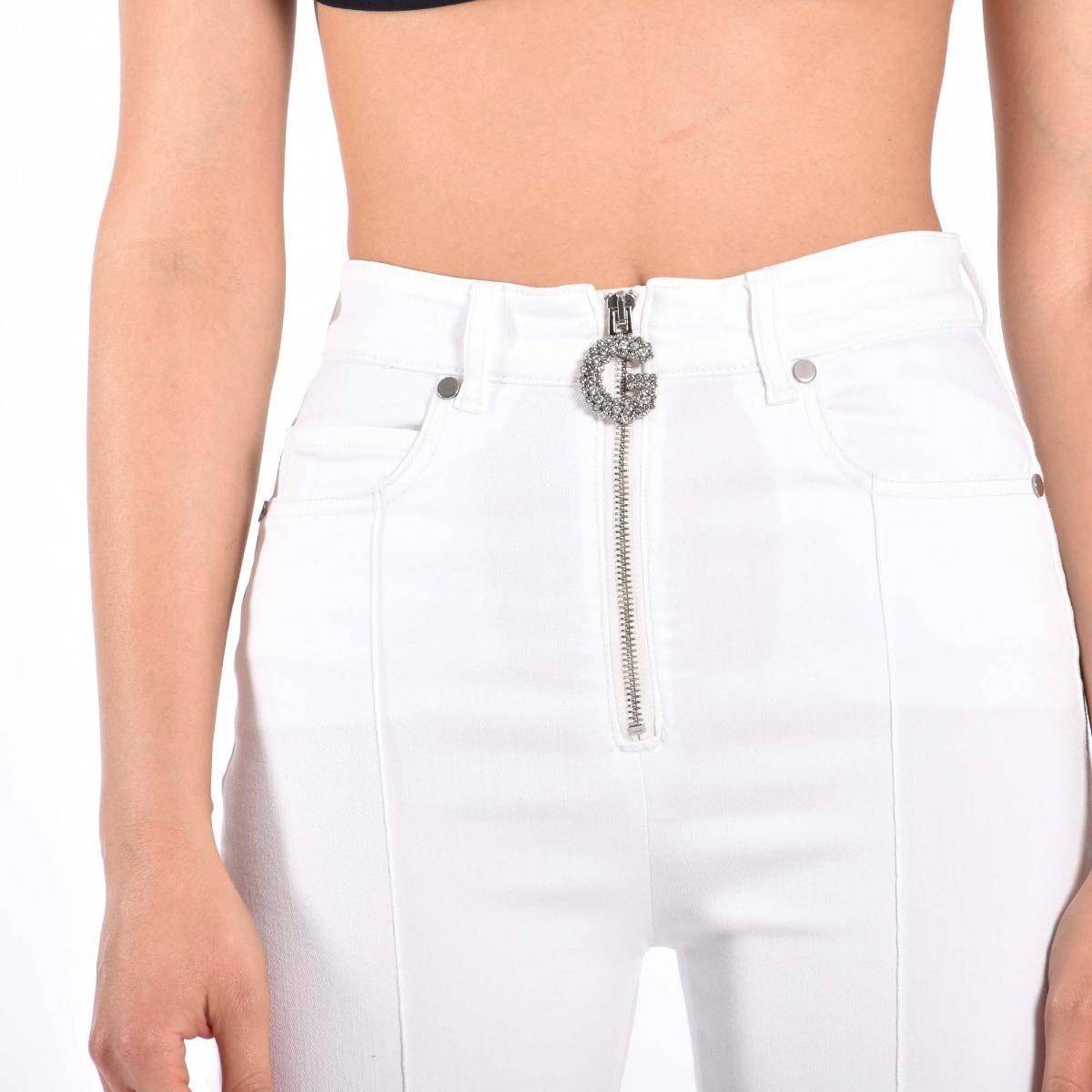 Jeans trombetta- Bianco