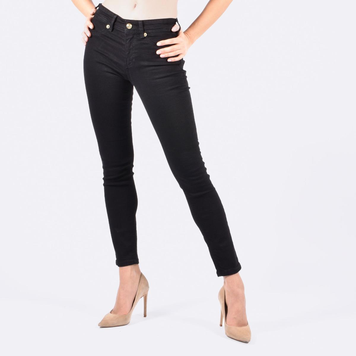 Jeans ricamo v-emblem- Nero