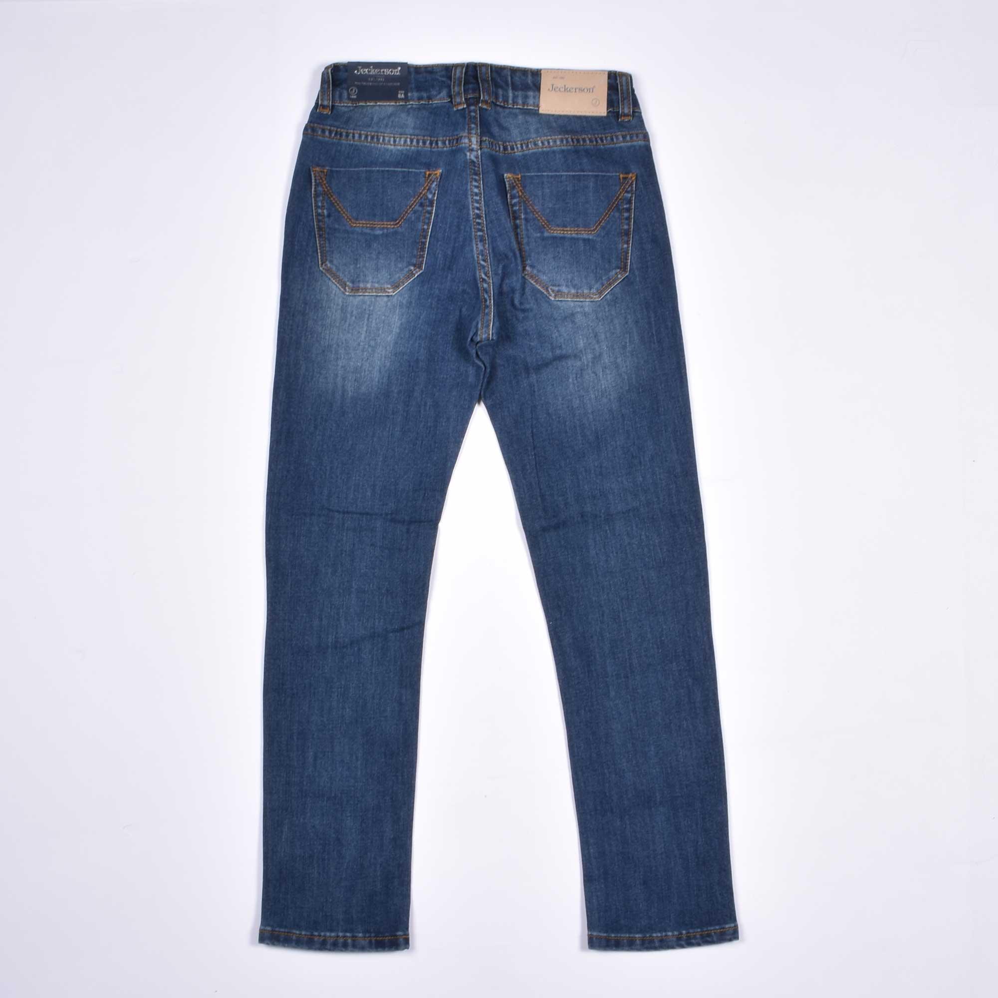 Jeans toppa velluto cammello - Denim