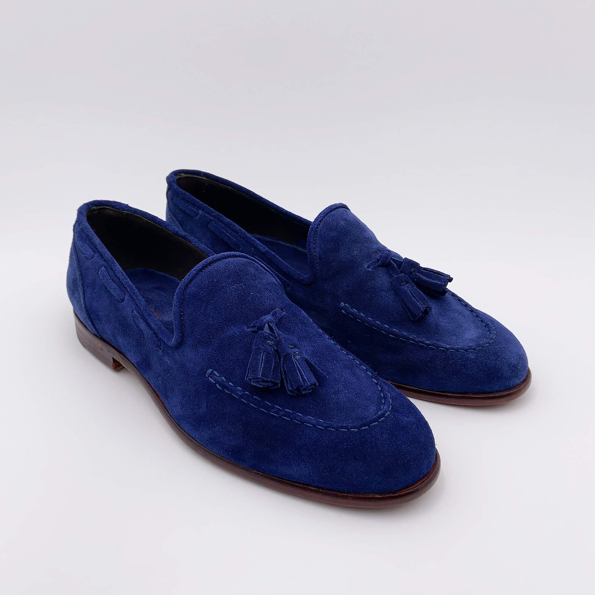 Mocassini con nappine - Blu royal