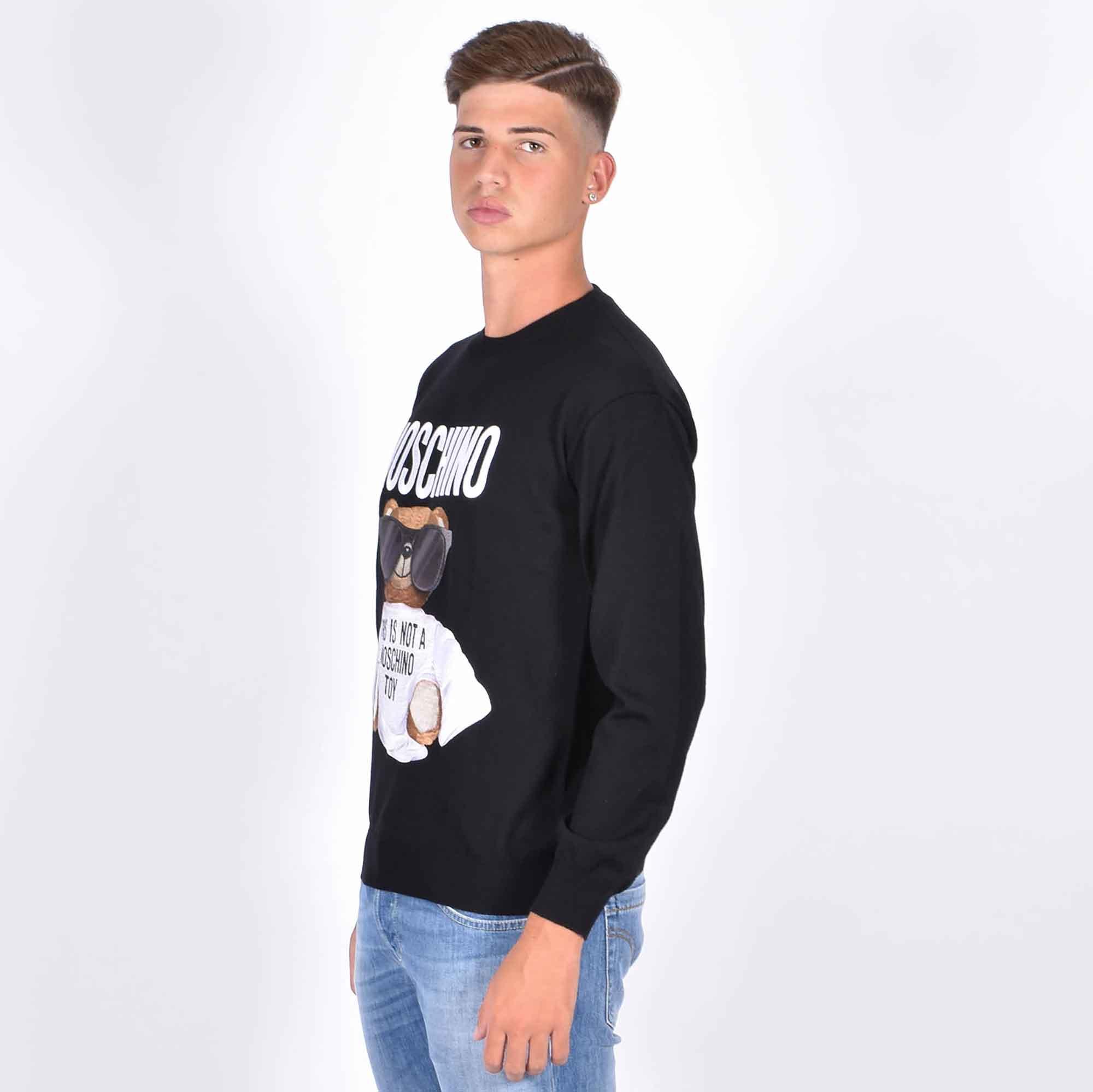 Maglione stampa orsetto - Nero