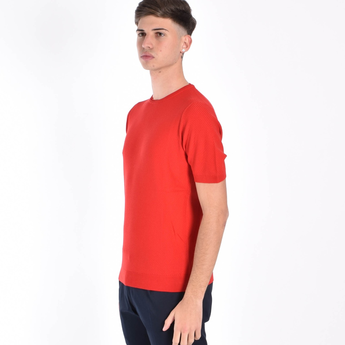 Maglia canestrino- Rosso