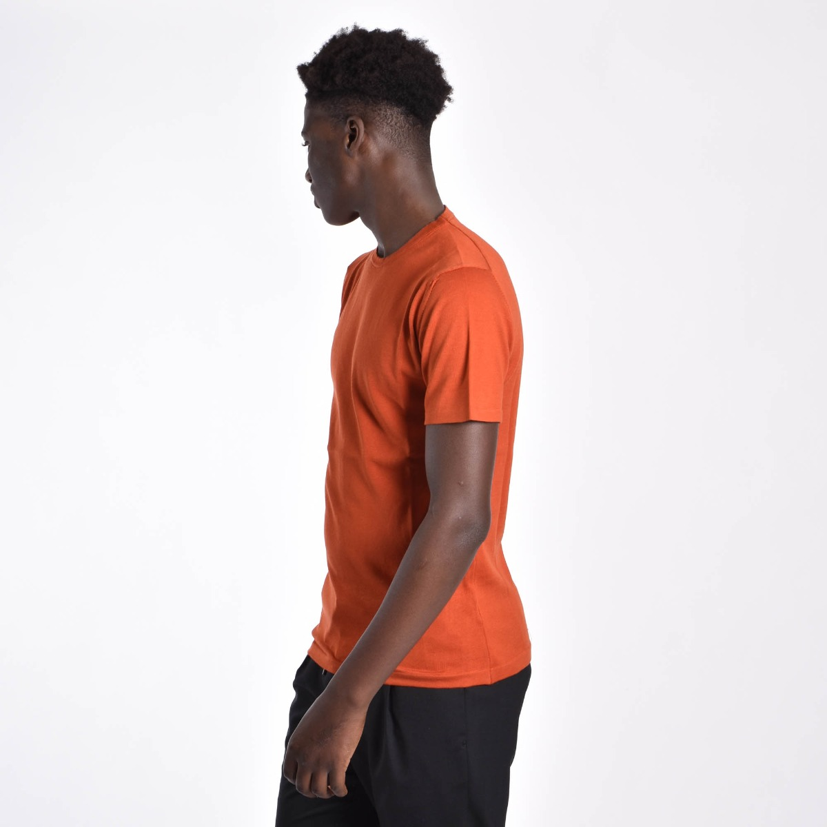 T-shirt in filo - Arancio