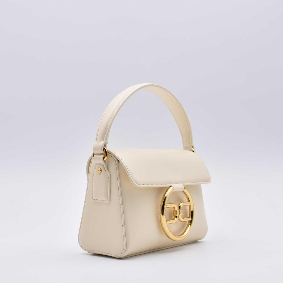 Mini bag fibbia logo- Burro