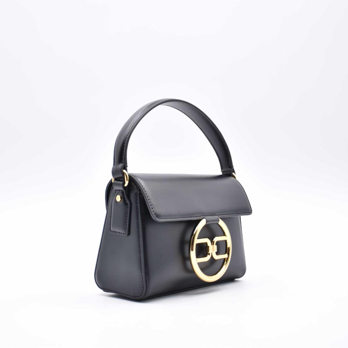 Mini bag fibbia logo- Nero