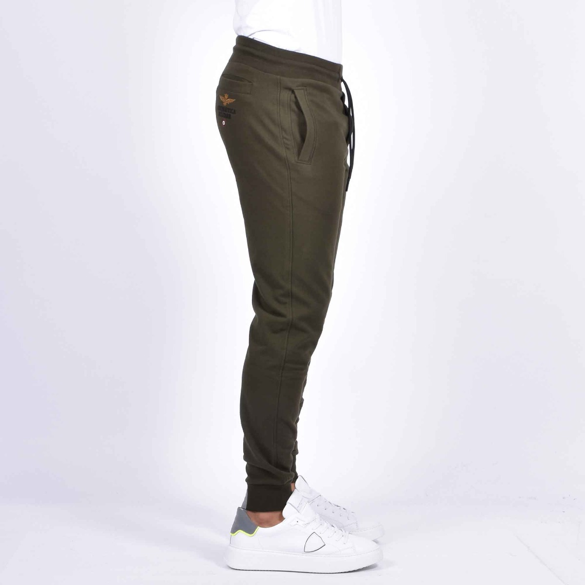 Pantalone felpa aquila - Verde scuro