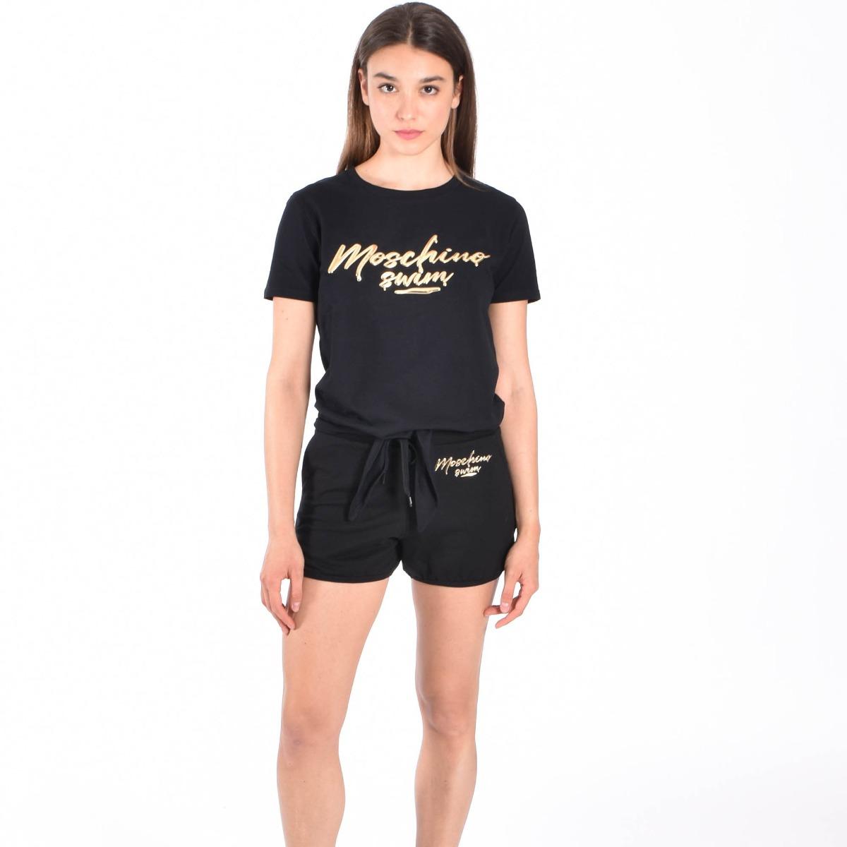 Shorts logo oro- Nero