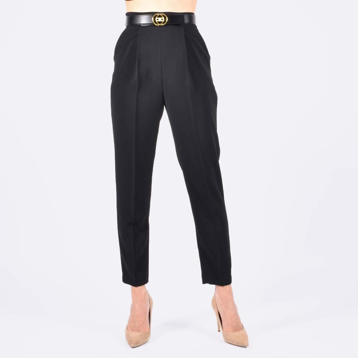 Pantalone con cintura- Nero