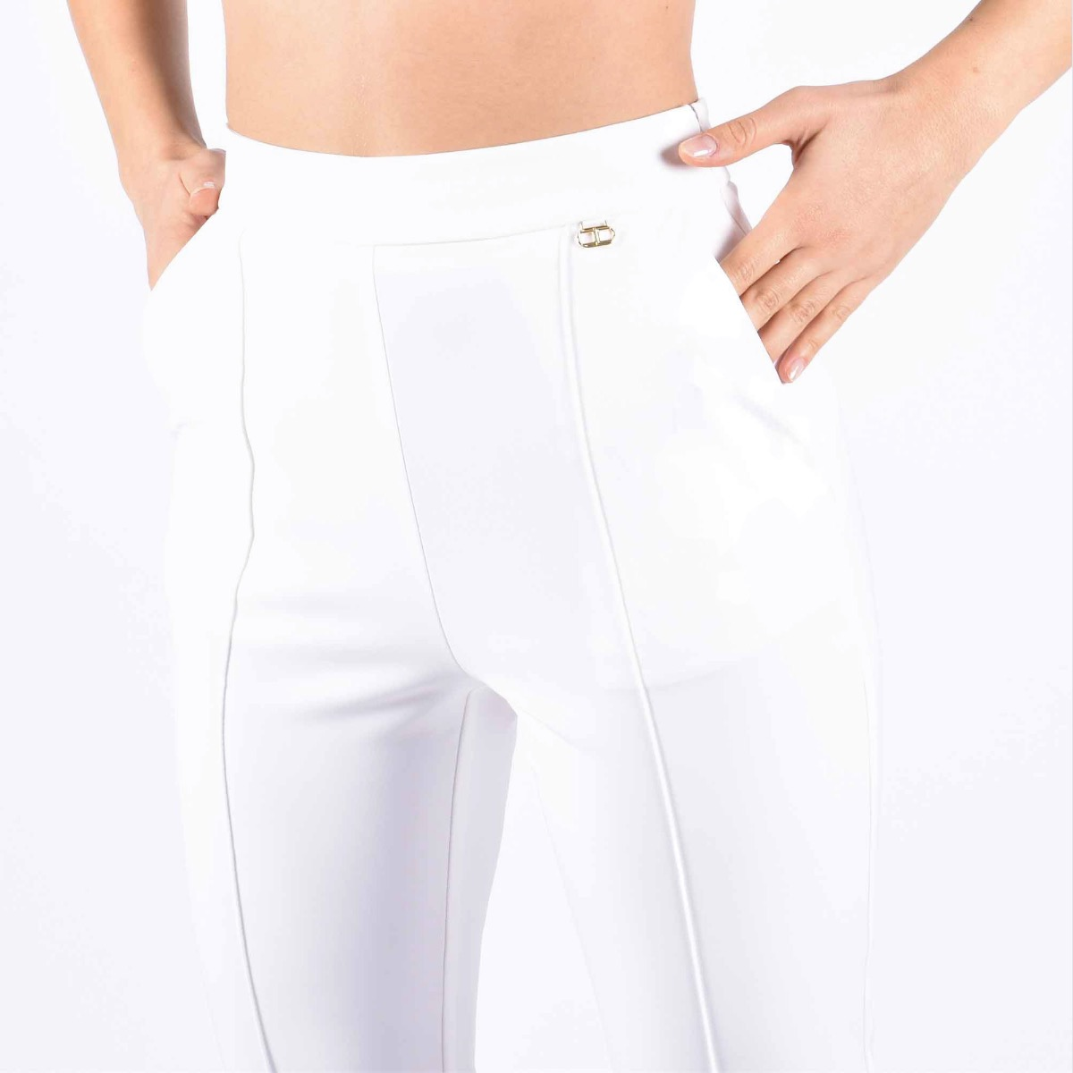 Pantalone essential- Avorio