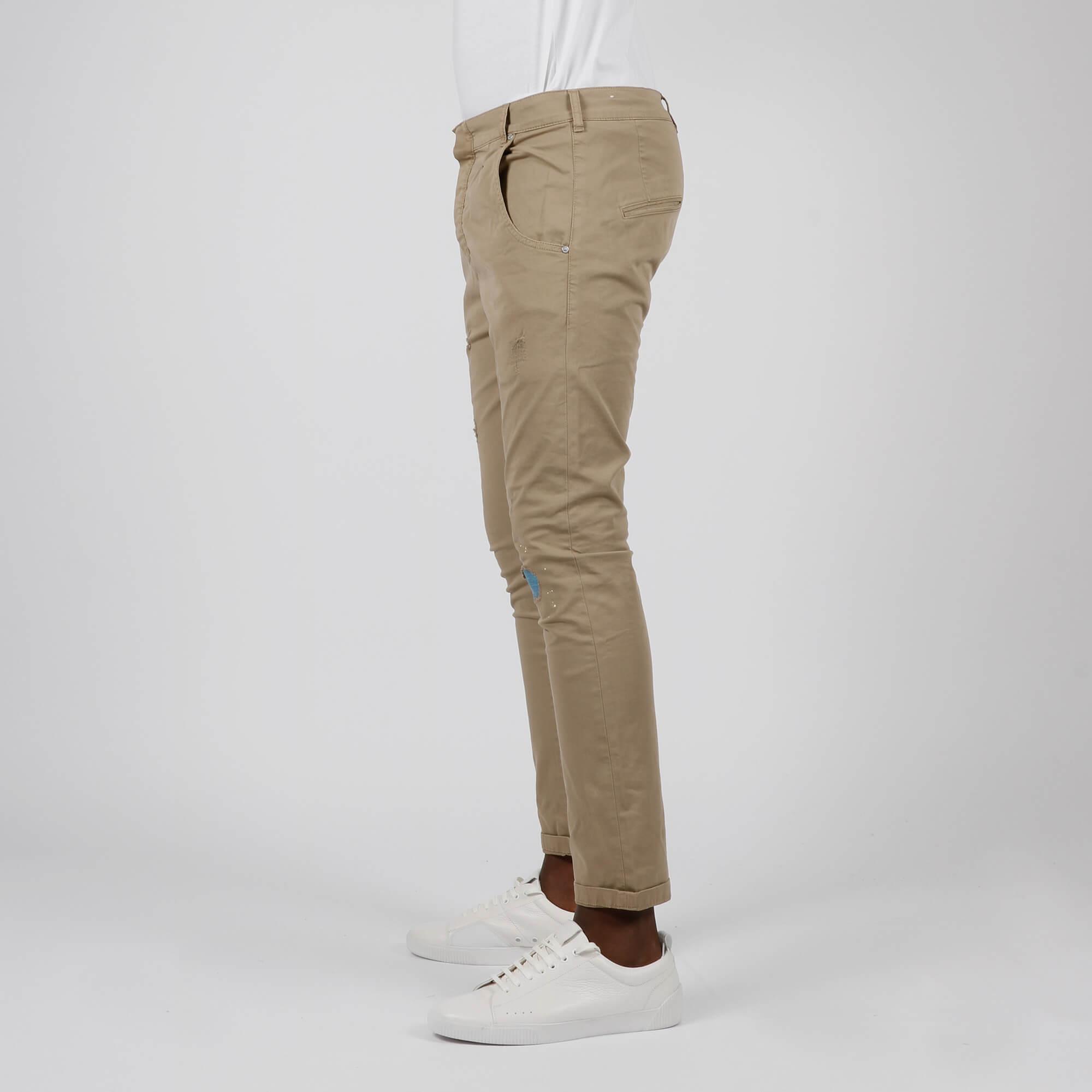 Jeans tasca america spruzz - Sabbia