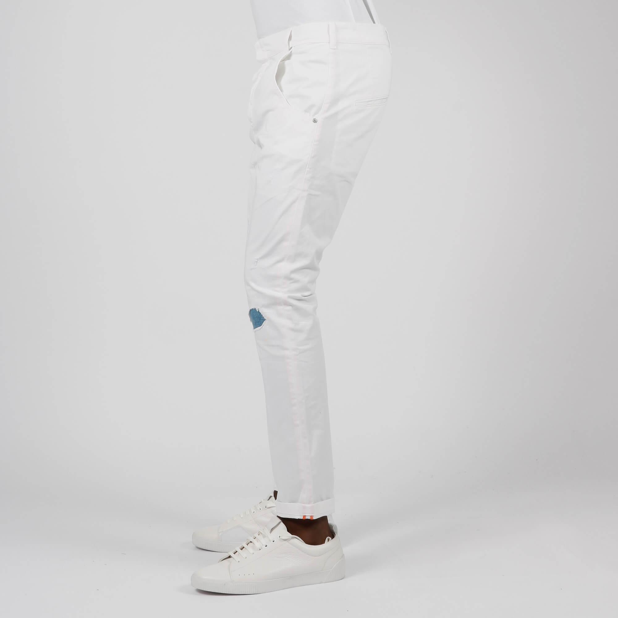Pantalone tasca america spruzz - Bianco