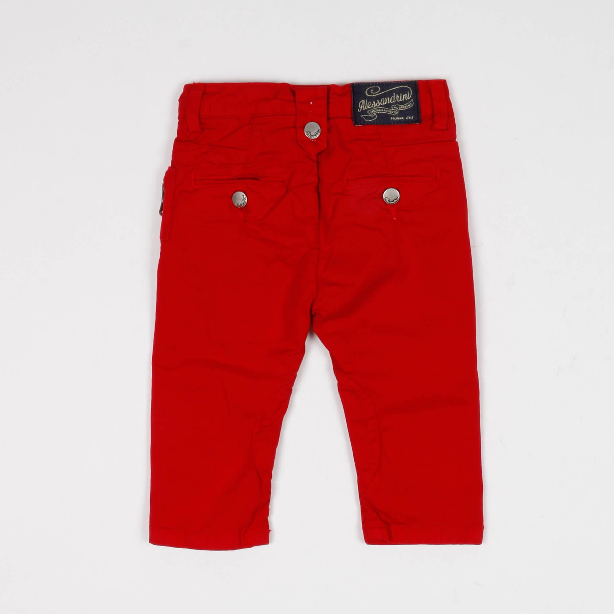Pantalone baby con rotture - Rosso