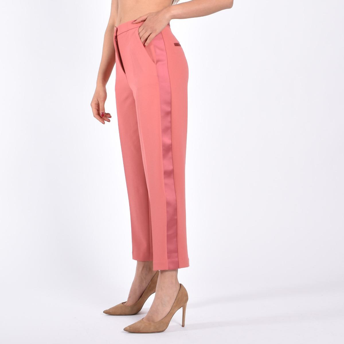 Pantalone banda laterale- Amaranto