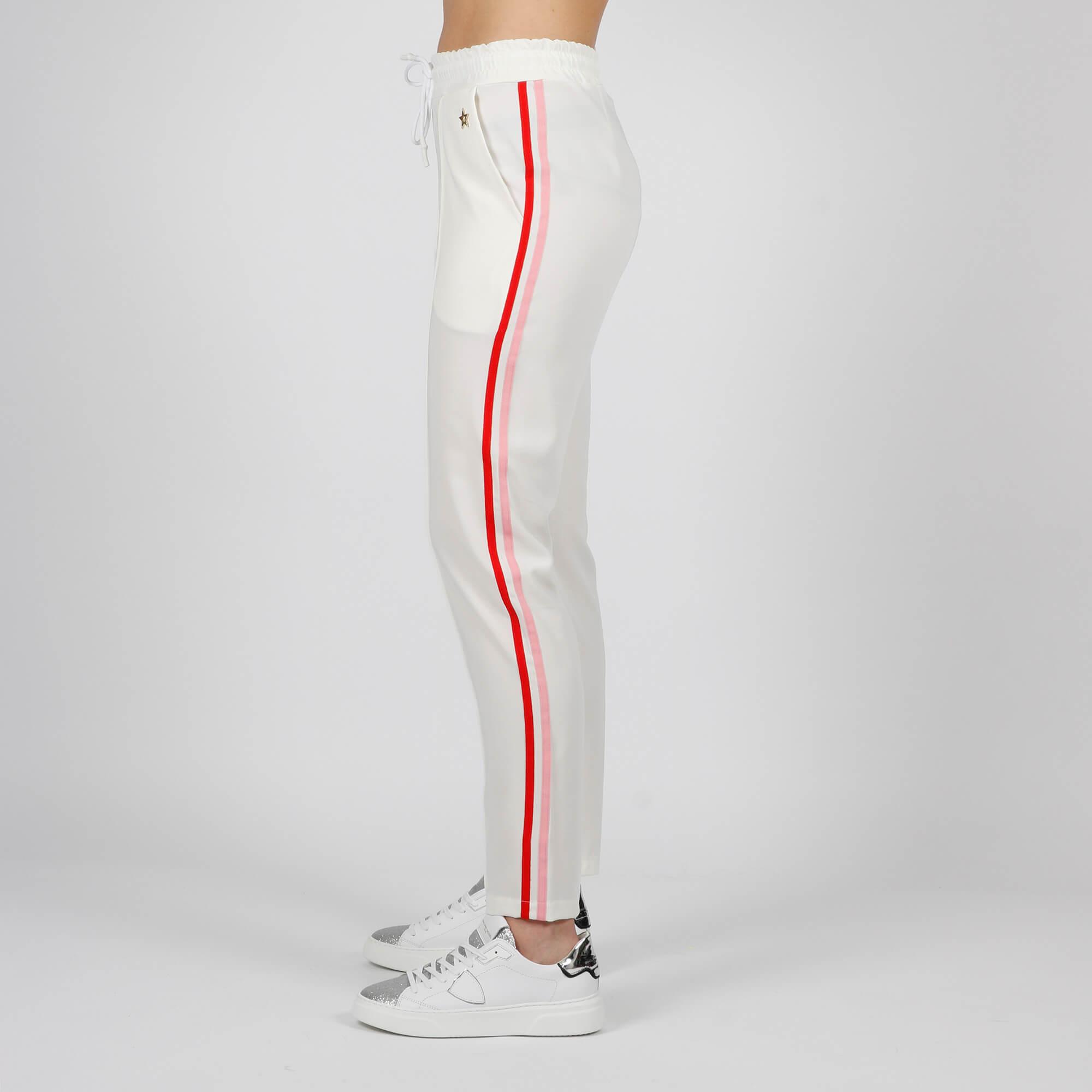Pantalone banda laterale- Bianco