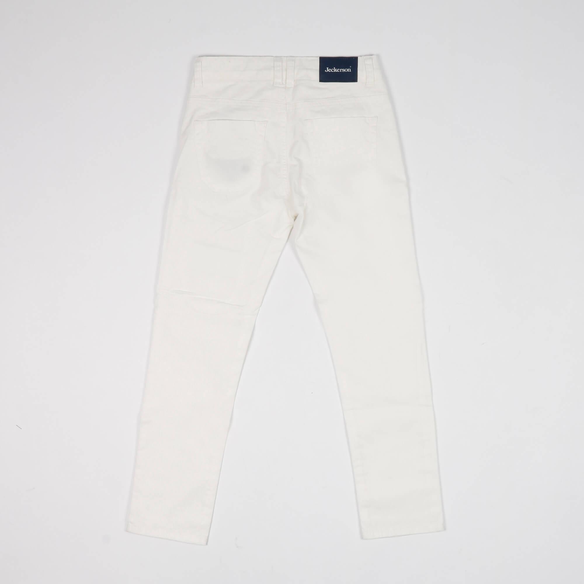 Pantalone toppa bandiera Cuba- Bianco
