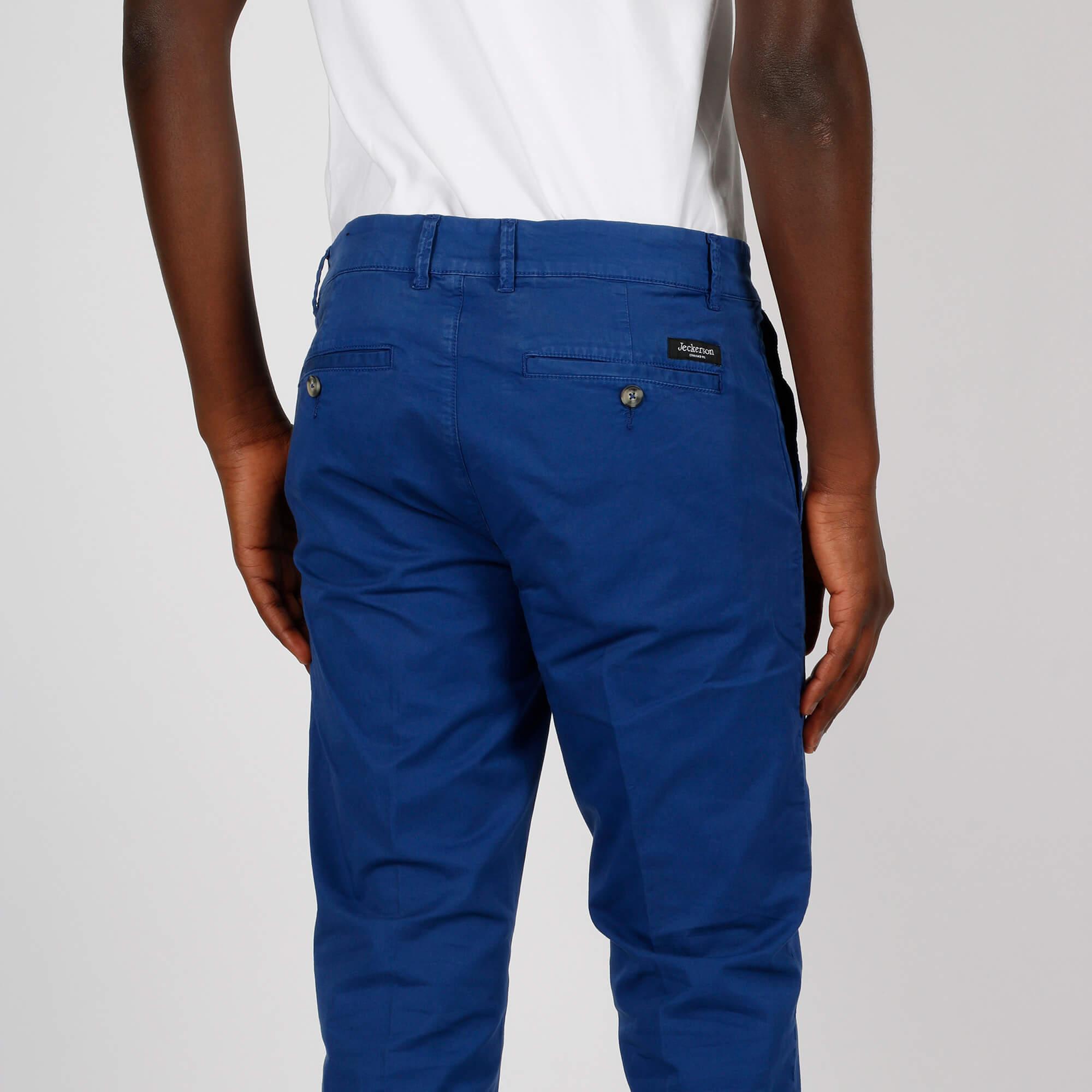 Pantalone ankle chino slim - Bluette